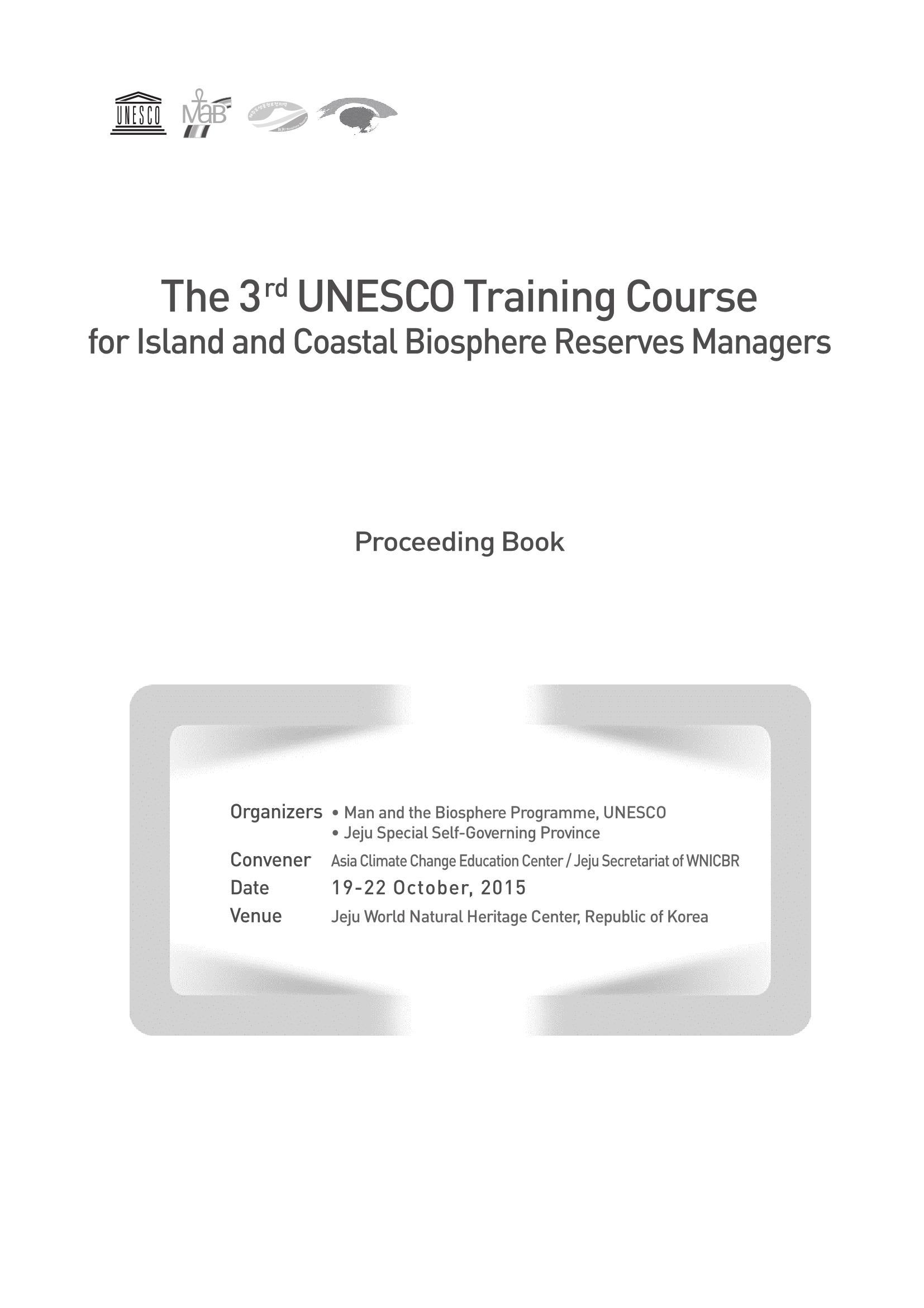 3rd BR Manager Training Course Proceeding Book