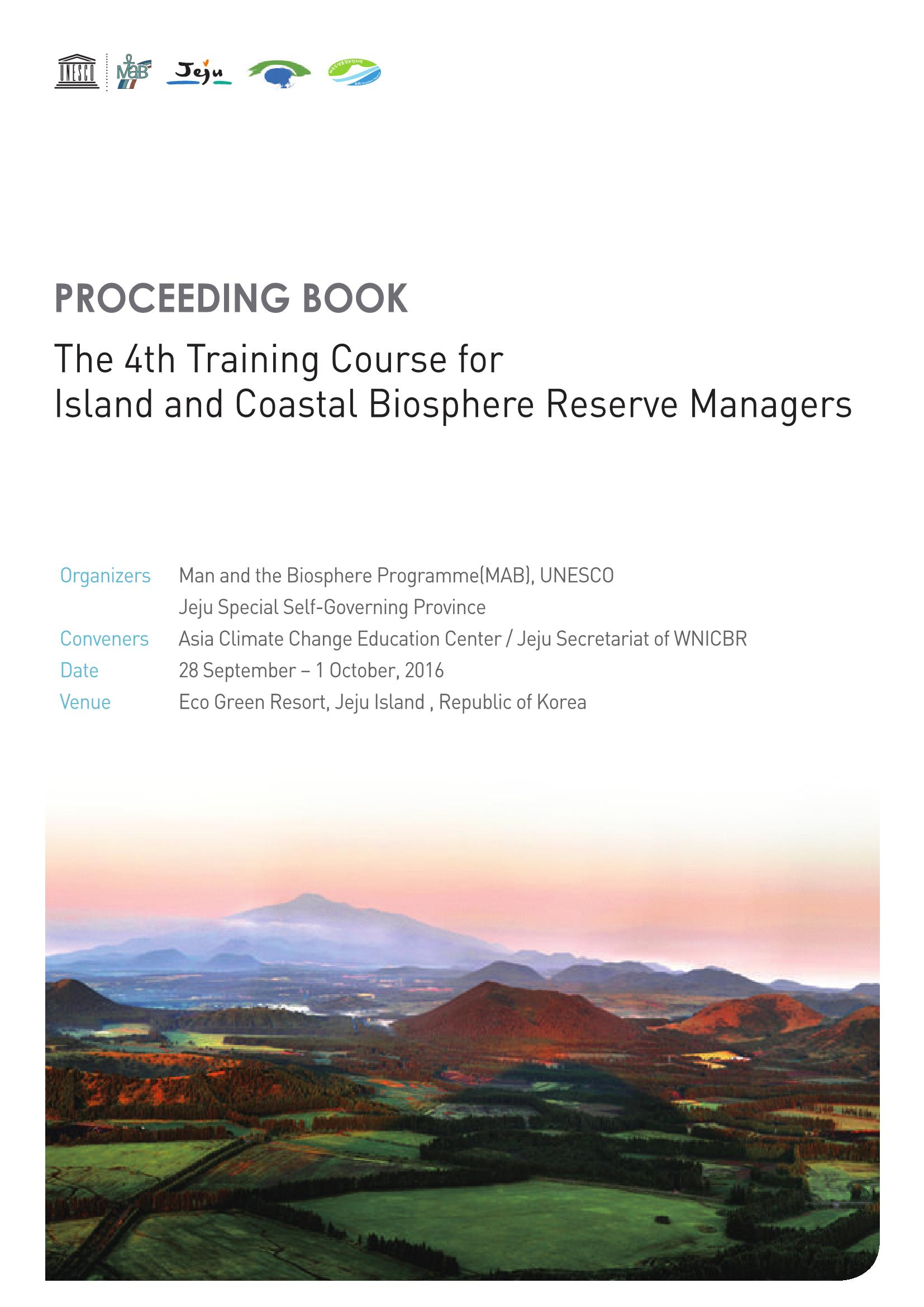The 4th BR Manager Training Course Proceeding Book